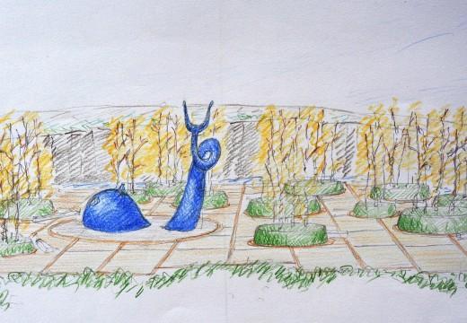 Cultura e Educación pon en marcha no Gaiás a construción do xardín literario e da área infantil inspirada en Urbano Lugrís