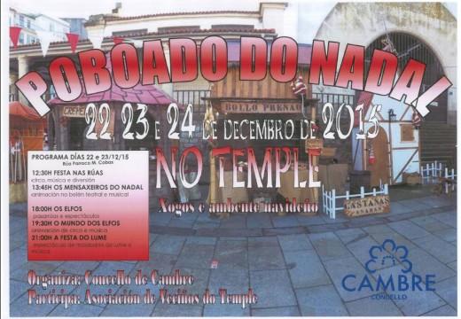 O Temple albergará un poblado do Nadal os días 22, 23 e 24 de decembro