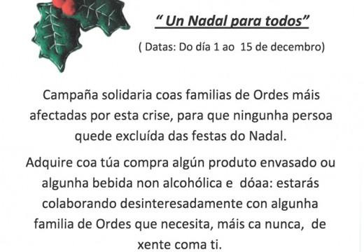 Servizos Sociais de Ordes pon en marcha a campaña 'Un Nadal para todos'