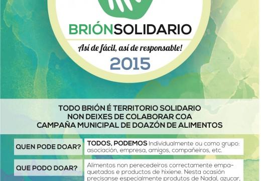 """""""Brión Solidario"""" pon en marcha a cuarta campaña de recollida de alimentos polo Nadal"""