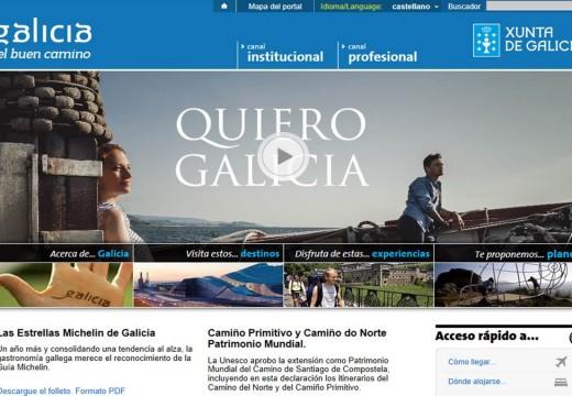 O portal de información e promoción turística da Xunta incrementou o seu número de usuarios en preto dun 22% no último ano