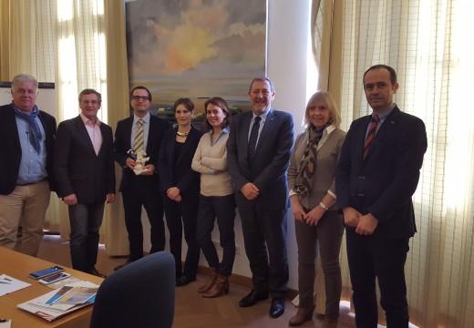 A Federación Europea dos Camiños de Santiago reunese co novo equipo directivo do Instituto de Itinerarios Culturais