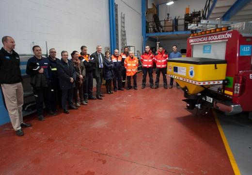A Xunta reforza a capacidade de resposta fronte as nevaradas mediante a entrega de 15 novos equipos de esparexedores de sal