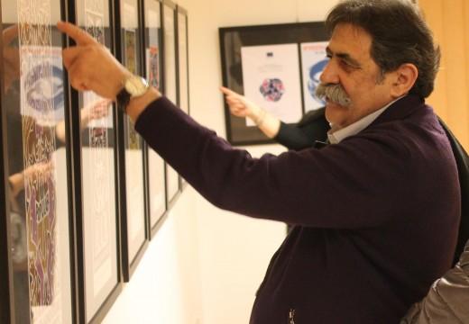 """O ilustrador e deseñador Xosé Vizoso presenta mañá venres en Brión a súa exposición """"Carteis 1970-2014"""""""