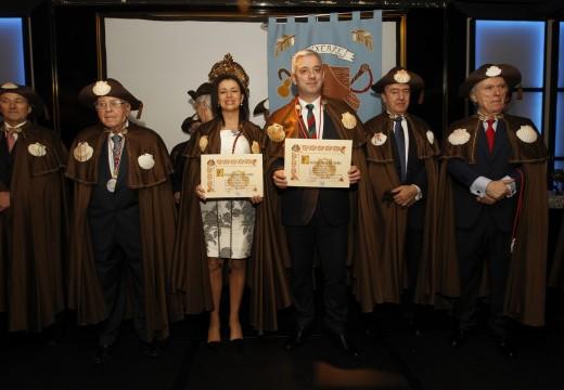 Rodríguez Miranda gaba os esforzos en favor de Galicia dos membros da Orde da Vieira, e ínstaos a seguir traballando polo progreso da súa terra de orixe