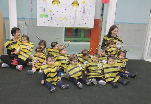 A Festa de Disfraces dos meniños da gardería abre as celebracións do Entroido en Brión