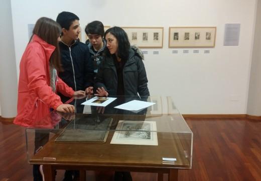 Un total de 44 alumnos do IES Leliadoura visitaron o Museo do Gravado de Artes
