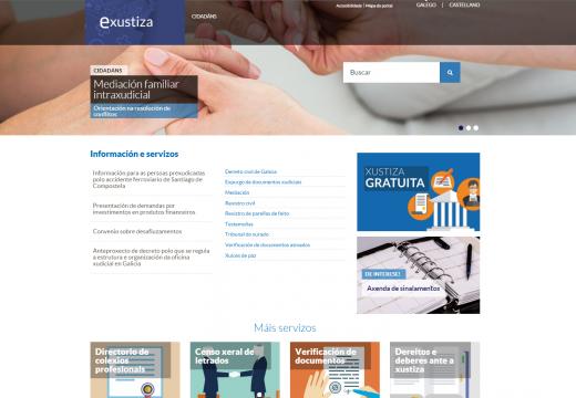 A Xunta renova o portal eXustiza para consolidalo como a porta de entrada á administración xudicial na rede