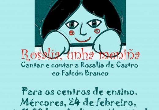 O concello de Riveira celebrará mañá o Día de Rosalía cun conto infantil musicado para máis de 250 alumnos de primaria do municipio