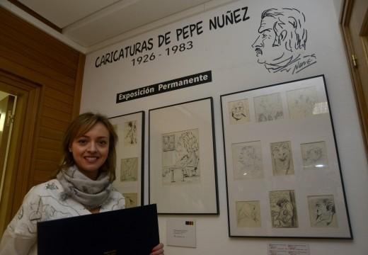 O Concello exhibe no Centro Cultural Lustres Rivas unha exposición permamente formada por 193 caricaturas de Pepe Núñez