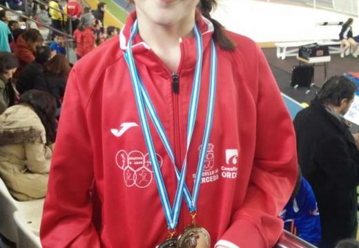 O Concello de Ordes felicita a atleta Alejandra Souto, campioa galega alevín en 50 metros lisos