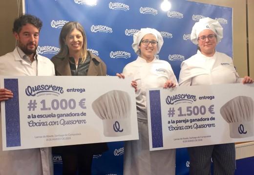 Dúas alumnas do CSHG gañan o I Concurso de Quescrem celebrado no CIFP Compostela para alumnos galegos de cociña