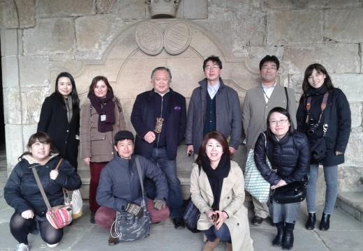 Un grupo de axentes de viaxes xaponeses visitan Galicia para coñecer a súa oferta turística