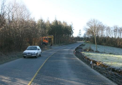 Comeza a segunda fase das obras de arranxo da estrada municipal Ordes-Cerceda