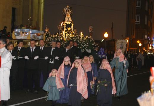 Ordes prepárase para a procesión da Nosa Señora das Dores e da Soidade