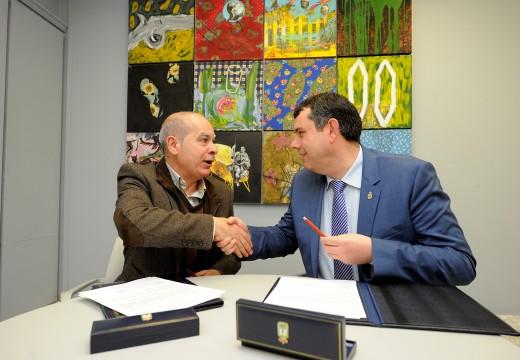 O Concello de Ordes e a Deputación da Coruña asinan o convenio de acondicionamento do pavillón Campomaior