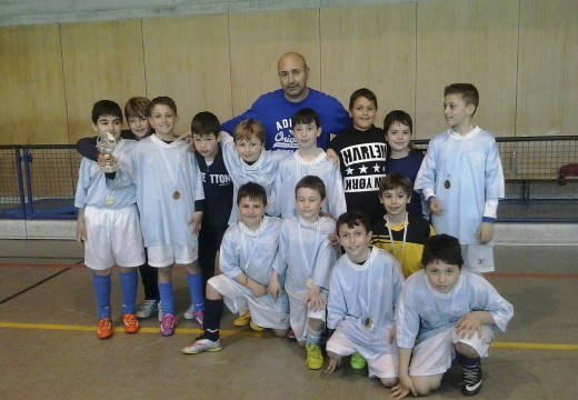 Os benxamíns das Escolas Deportivas de Fútbol Sala de Brión proclámanse campions da Liga do Tambre de Deporte Escolar