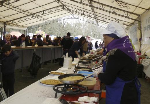Degustación gratuíta de 1.000 tortillas de masa na XI Festa da Merenda de Aiazo (Frades), que terá lugar este domingo 20 de marzo