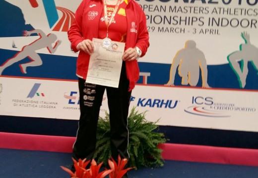 Ánxeles Rodríguez, medalla de prata no XI European Athletics Championships Indoor