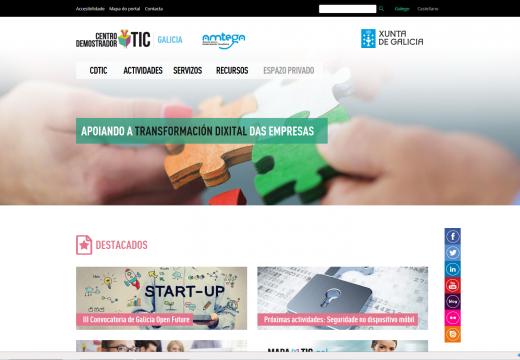 O Centro Demostrador TIC renova a sua presenza na rede cun novo portal e unha App, que permite inscribirse nas súas actividades e seguilas en streaming desde o móbil