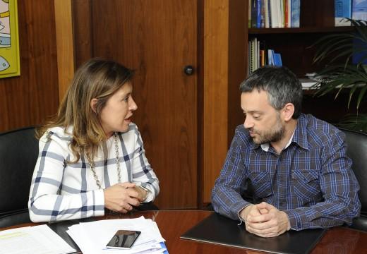 Mato traslada ao concello da Coruña a vontade de colaboración da Xunta en materia de saneamento e xestión de residuos