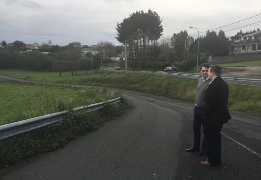 A Xunta eliminará as curvas de Fonte Grande, na estrada de acceso a Mugardos, cun investimento de 314.000 euros