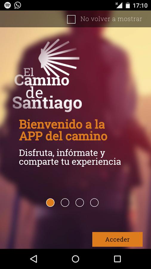 A aplicación móbil do Camiño de Santiago de Turismo de Galicia xa está dispoñible para descargar en dispositivos android