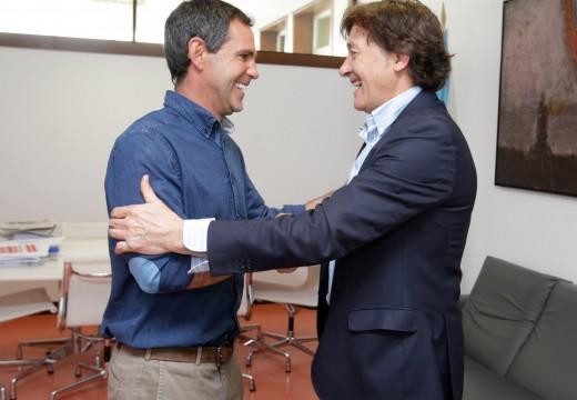 O secretario xeral para o Deporte recibe a Fernando Echávarri, regatista Campión Olímpico en Pekín e clasificado para Río 2016