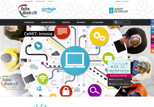 """A Amtega publica o portal """"Faite Dixit@l"""", que integra todos os recursos e iniciativas do Plan de Inclusión Dixital de Galicia"""