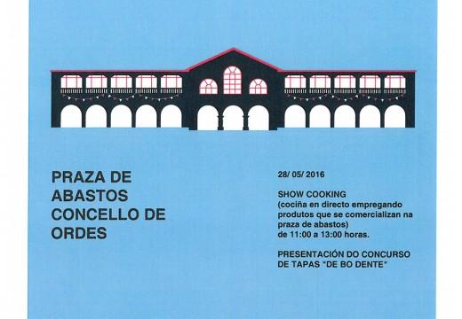 O Concello de Ordes organiza un Showcooking para promover a súa Praza de Abastos