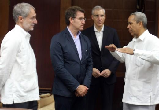 Feijóo abre as portas de Galicia á economía cubana e destaca ante os empresarios do país as capacidades dos sectores galegos  que están consolidando o crecemento das nosas exportacións
