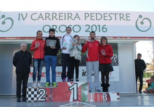 Amador Pena Torreira e Elena Matalobos Redondo gañan a IV Carreira Pedestre Concello de Oroso, que reuniu case 550 atletas en Sigüeiro