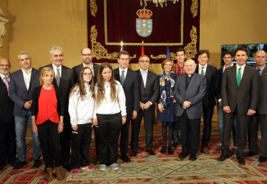Feijóo refírese á Carreira do Peregrino, que chegará a Santiago desde Roncesvalles, como unha oportunidade para unir os valores do olimpismo cos valores xacobeos