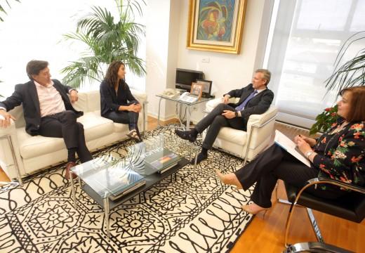 A Xunta recibe á deportista galega verónica boquete, embaixadora da UEFA para o desenvolvemento do fútbol feminino