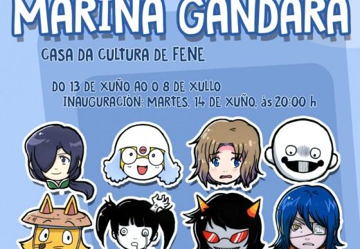 Exposición de ilustracións de Mariña Gándara Serantes no Museo do Humor de Fene