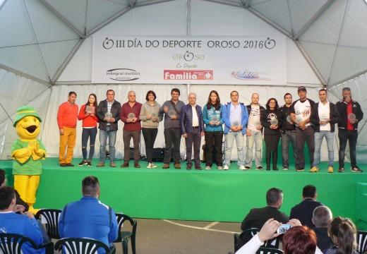 A III Gala do Deporte de Oroso distinguiu os mellores deportistas da tempada