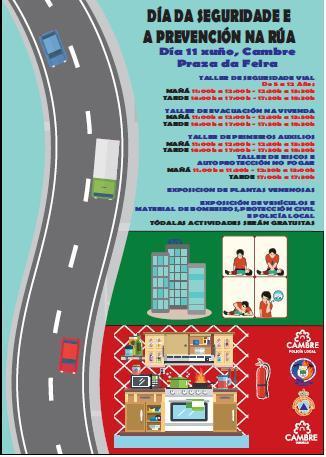 Cambre acolle o sábado unha xornada de seguridade e prevención na rúa dirixida aos pequenos da casa