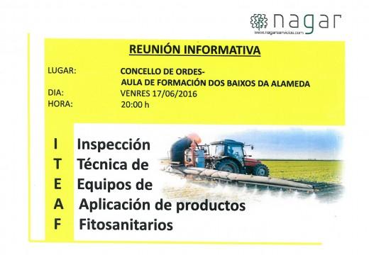 Charla informativa en Ordes sobre a inspección técnica de equipos de aplicación de produtos fitosanitarios