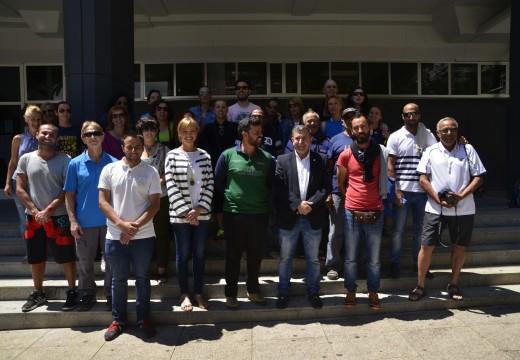 Recepción a 27 veciños de Adeje que veñen de completar o Camiño de Santiago