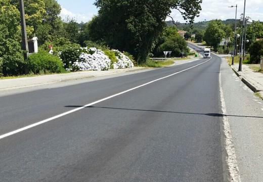 O PSOE de Ordes pide a reposición da sinalización horizontal no tramo da N-550 asfaltado esta semana
