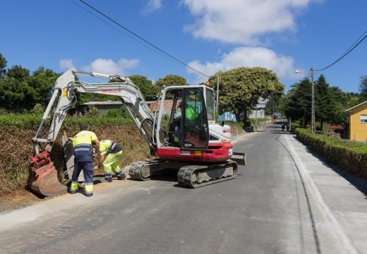 O bo tempo propicia o arranque das obras de reparación en varias vías municipais de San Sadurniño