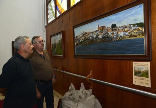 """Andrés M. Gago plasma a súa traxectoria creativa cos case corenta cadros da súa exposición """"De Palmeira a New Jersey"""""""