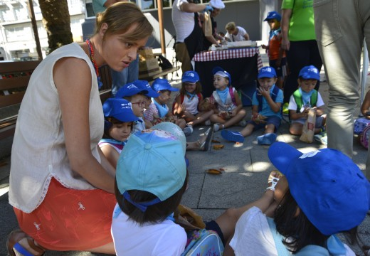 """Os nenos do Verán Cultural participaron na actividade """"Ponlle as pilas ao teu bocata"""""""