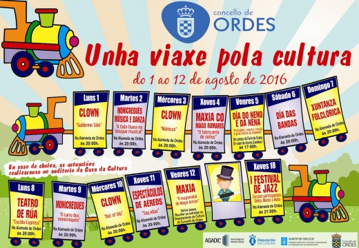 Arranca o programa cultural de verán organizado polo Concello de Ordes