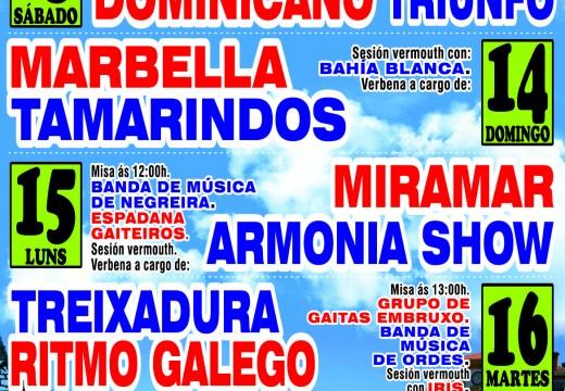 El Combo Dominicano abrirá as festas patronais de Ordes