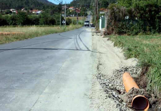 O Concello de Brión acomete a ampliación da estrada e a instalación de recollida de pluviais nos lugares de Lamiño e Liñares