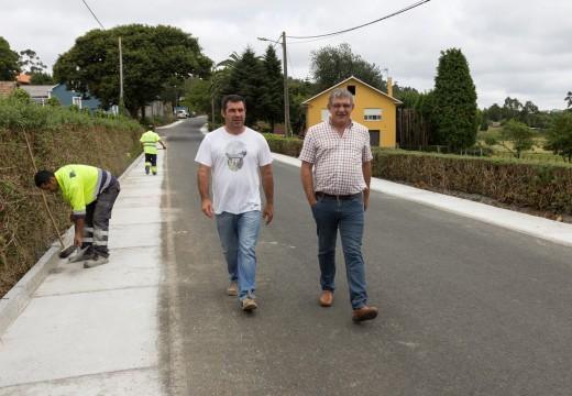 Finalizan as obras de mellora da seguridade viaria no eixo principal de Bardaos