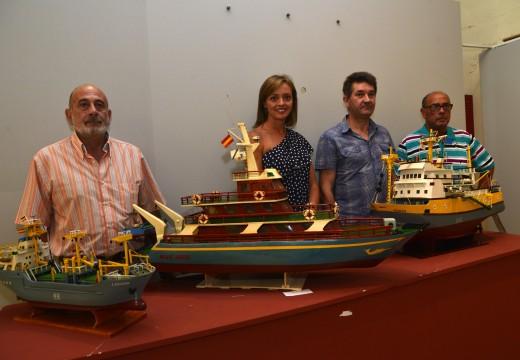 O Auditorio exhibe 70 maquetas de modelismo naval no marco de Artemar Riveira