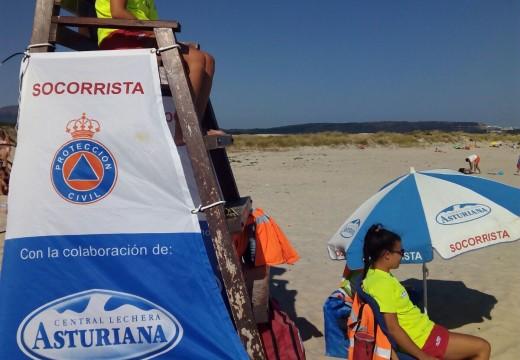 O Servizo de Salvamento de Riveira manterase con 21 socorristas ata o día 12 nas praias da Ladeira, Coroso e o Vilar