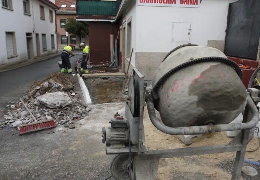 O Concello de Touro afronta obras para mellorar a accesibilidade en Fonte Díaz